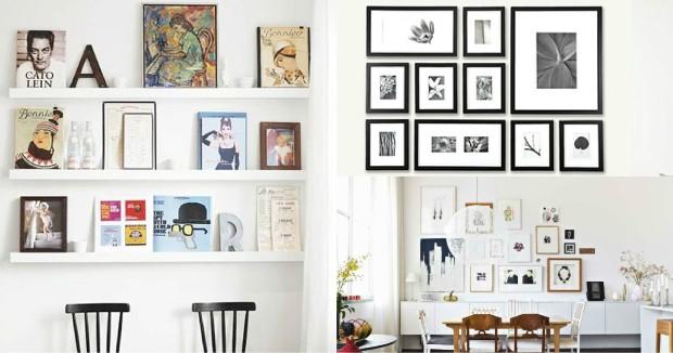 Decor cuadros en la pared capricho site - Como decorar una pared con cuadros ...